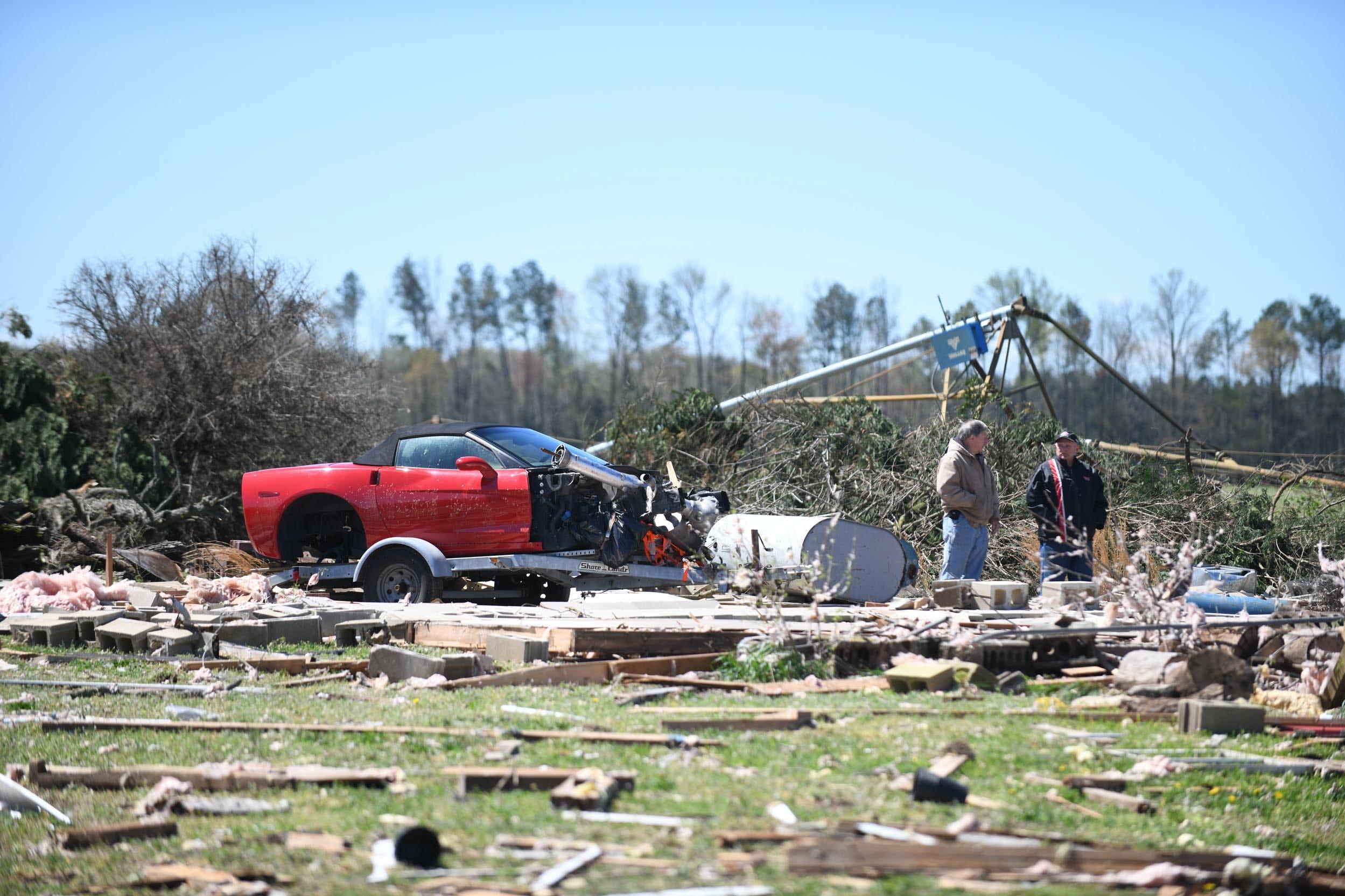 WATCH: Tornado leaves wake of damage in Laurel, Delaware