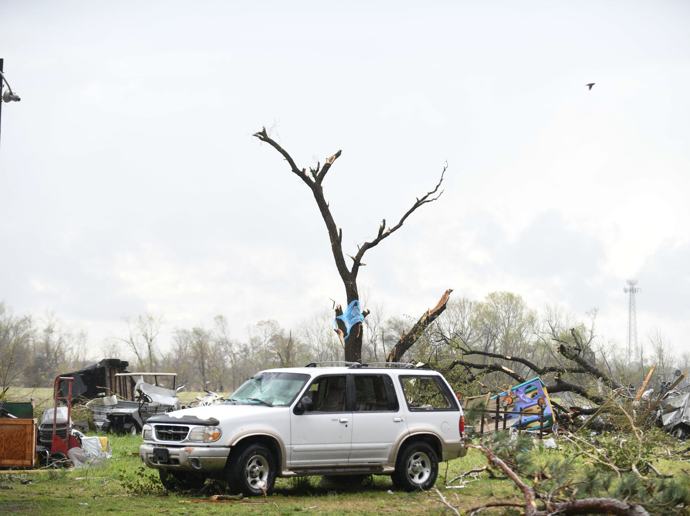 Multiple homes sustained damage on Seaford Rd. in Laurel, Del. after a strong band of storms passed through Sussex County on Monday, 15, 2019.