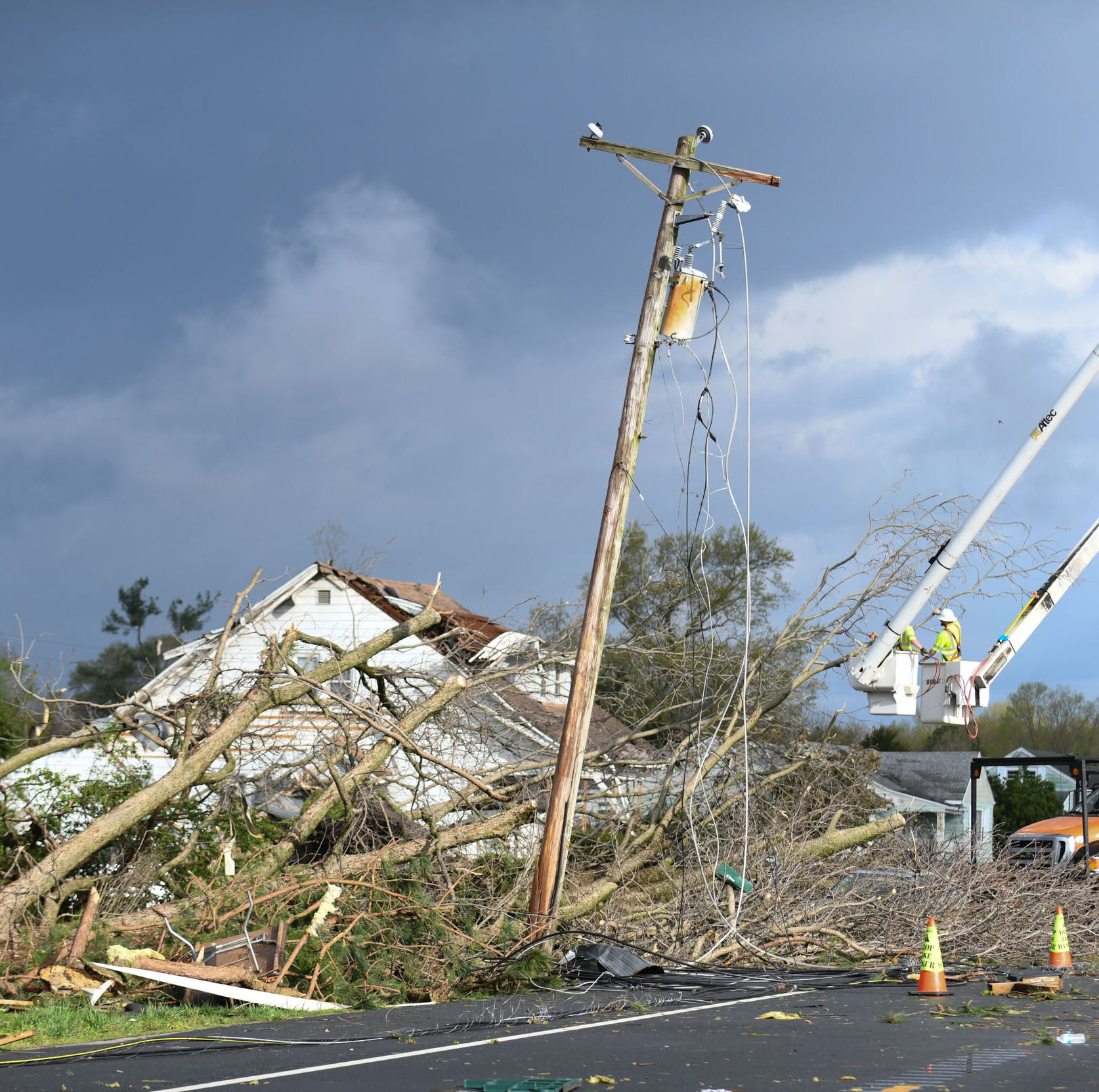 Laurel tornado upgraded to F2 after further review of damage, National Weather Service says