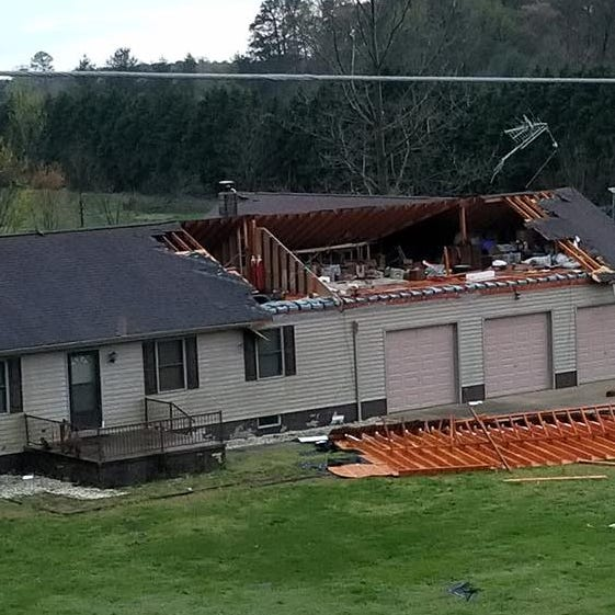 See possible Laurel tornado damage caused by lower Delaware storm Monday morning