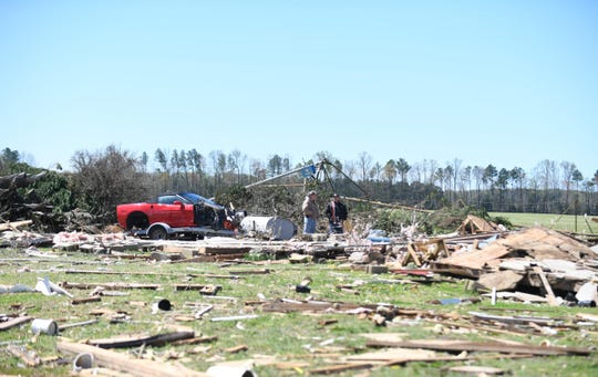 Multiple homes and buildings have been damaged in the area of Concord Rd. and Pepper Rd. in Seaford, Del. due to severe storms that passed through Sussex County on Monday, April 15, 2019.