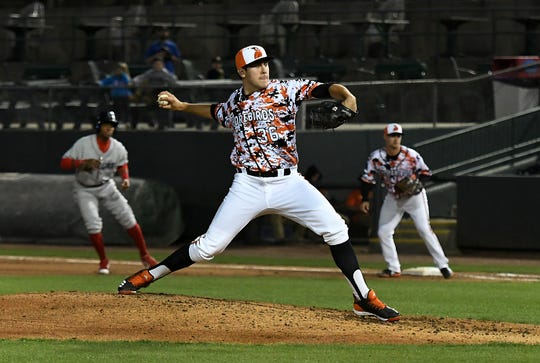 Delmarva Shorebirds' pitcher Grayson Rodriguez has combined for 20 strikeouts in two games during his time with the team.