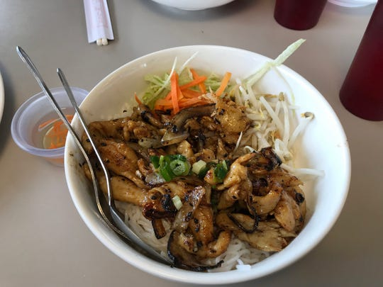 Rice and chicken dish at Pho VN.