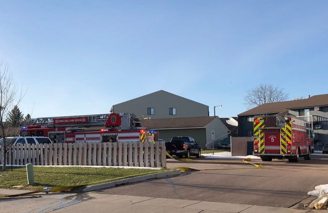 One man was taken to the hospital after a fire broke out in an apartment building at 1624 South Doodler Drive.