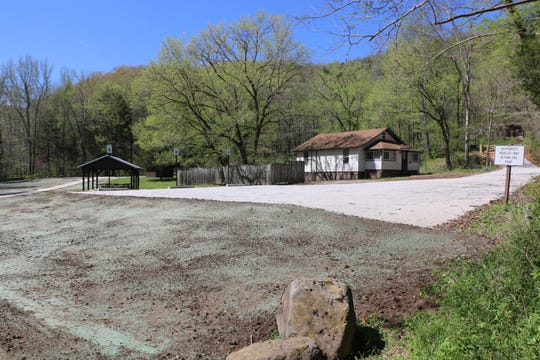 A new parking area marks one of the improvements at Lost Valley outdoors area near the Buffalo National River.