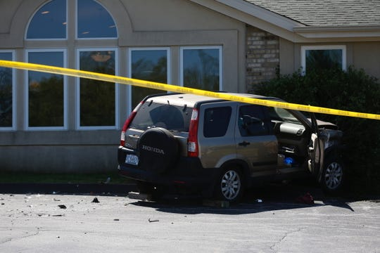 An SUV crashed into the McMillen Family Dentistry building on the 1600 block of Elfindale.