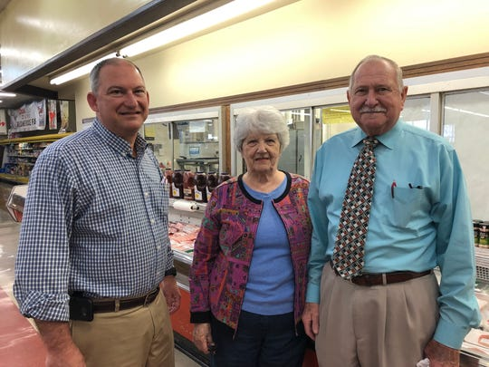 The Super Save Food Market in Weyers Cave is up for sale and will close in June if there isn't a buyer. From left to right: co-owners Randy Harris, June Harris and Paul Harris.