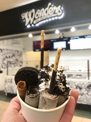 Wonders Ice Cream is now open in Crossroads Center in St. Cloud. The shop offers rolled ice cream with a variety of flavors and toppings.
