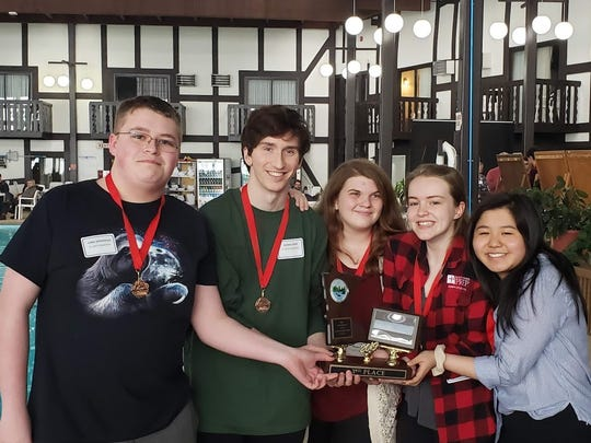 St. John's Preparatory School took third in the Class A division of the state knowledge bowl tournament April 10-11 in Brainerd.
