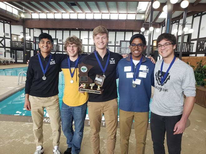 Sartell High School took second in the Class AA division of the state knowledge bowl tournament April 10-11 in Brainerd.