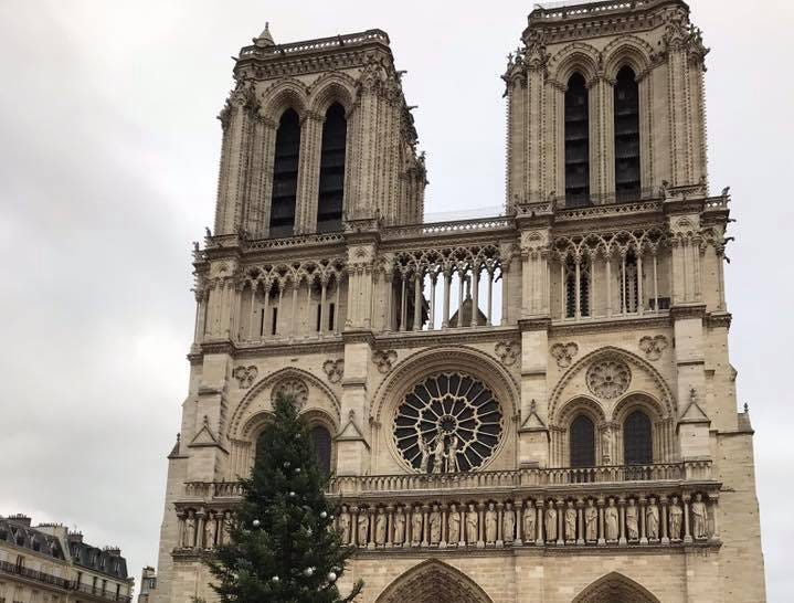 Notre Dame at Christmastime