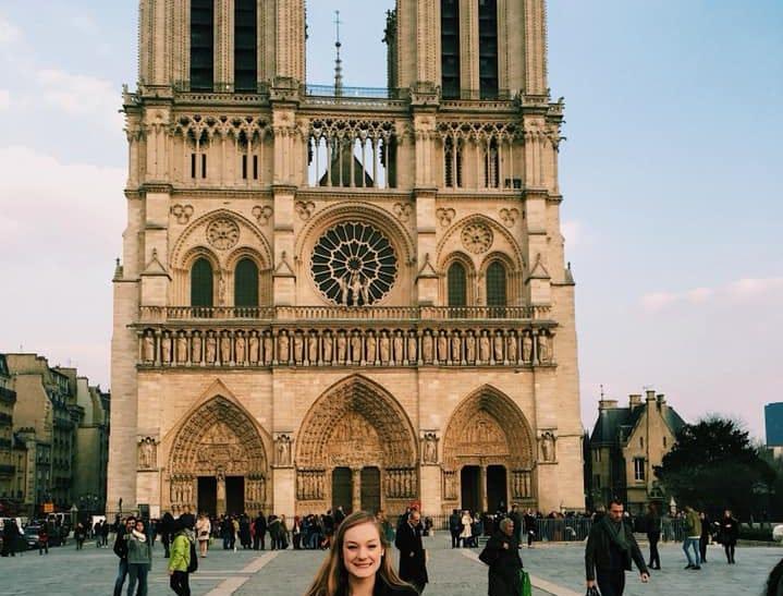 Samantha Edgar at Notre Dame in 2015.