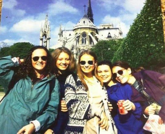 Alicea Acevedo and friends on a 10th grade trip.