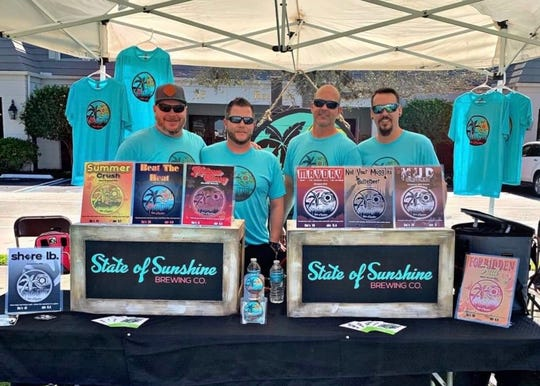 Chris Ellison, Casey Johnson, Johnathan Billings and Devin Giles created State of Sunshine Brewing.