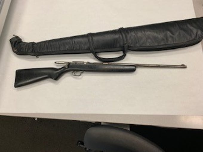 A shotgun seized by Oxnard police.