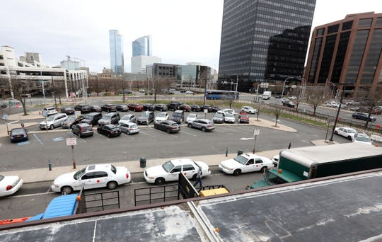 A view of the parking lot beside the White Plains Metro-North train station April 11, 2019 which is being renovated.