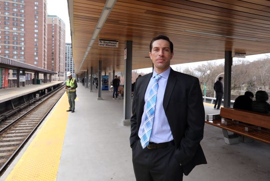 Metro-North Railroad project manager Brad Knote at the White Plains train station, which is being updated, April 11, 2019. The aesthetic and amenities at this station will serve as a model for other stations.