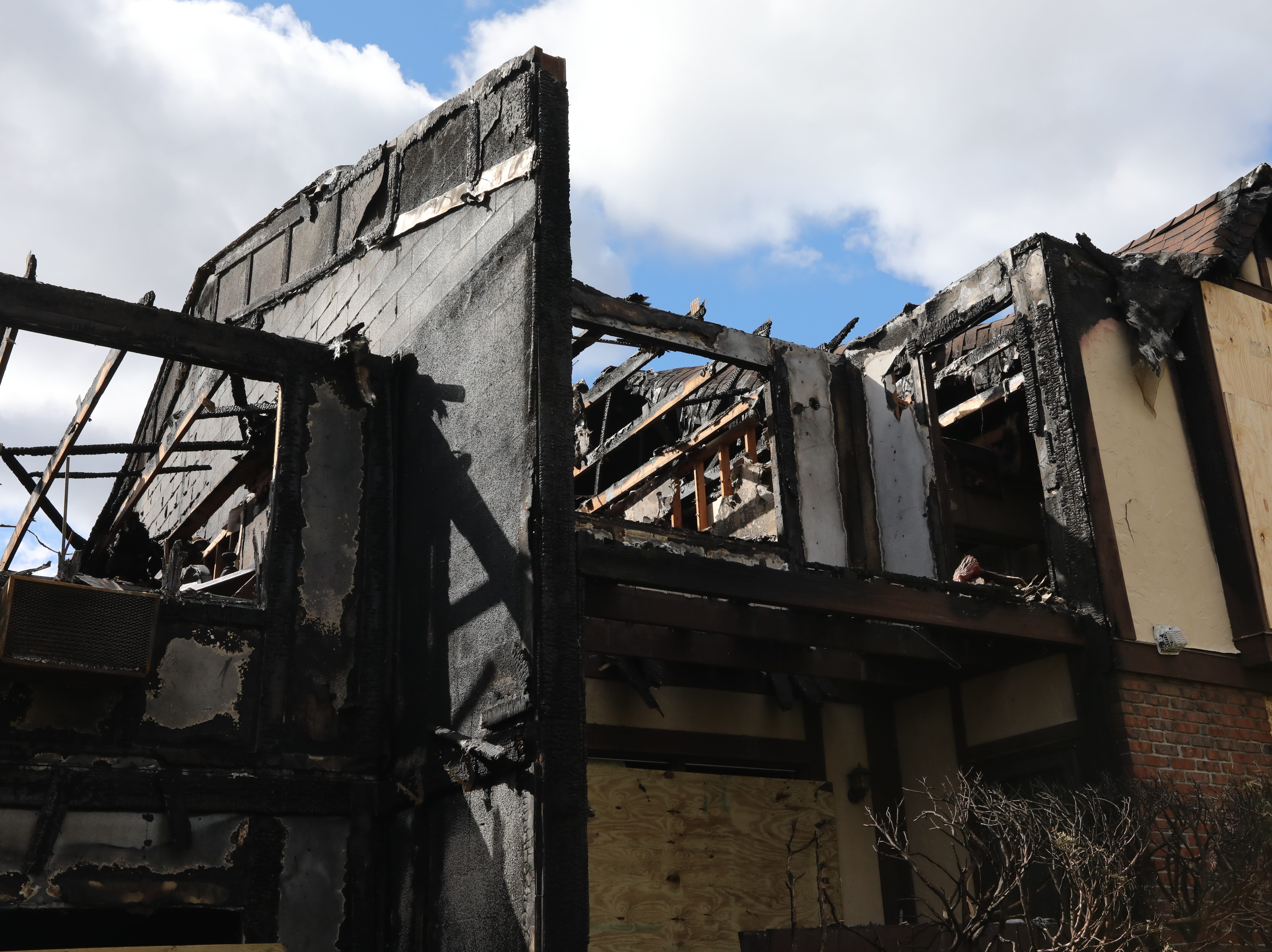 The aftermath of an April 14 fire that burned a building at Mountainview Condominiums in Valley Cottage April 15, 2019. The fire jumped a firewall and spread to the adjacent unit.