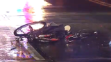 A bicyclist was injured in a hit-and-run crash Sunday night in Milltown.  Video provided by John J. Jankowski Jr.  4/15/19