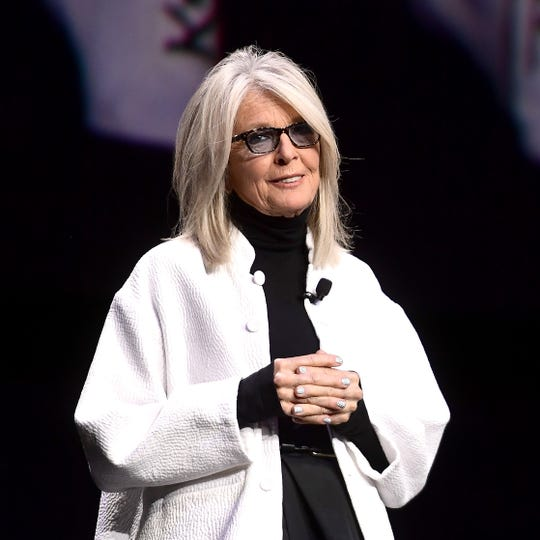 Actress Diane Keaton shown here at CinemaCon 2019 was in Delaware Saturday night to received a Common Wealth Award at Wilmington's Hotel du Pont.