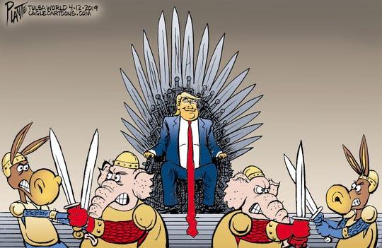 """Game of Thrones"" editorial cartoon"