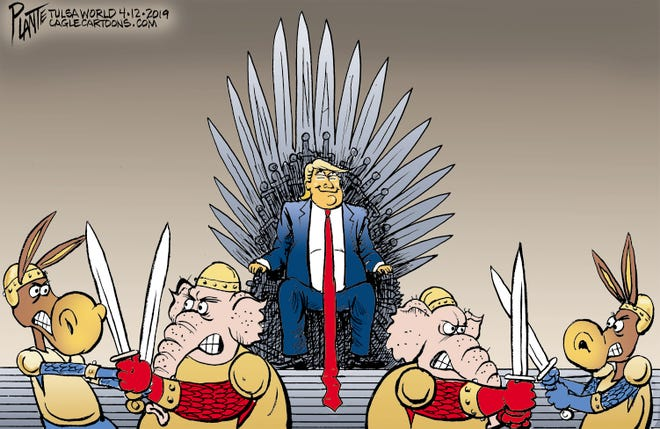 """Game of Thrones"" editorial cartoon"