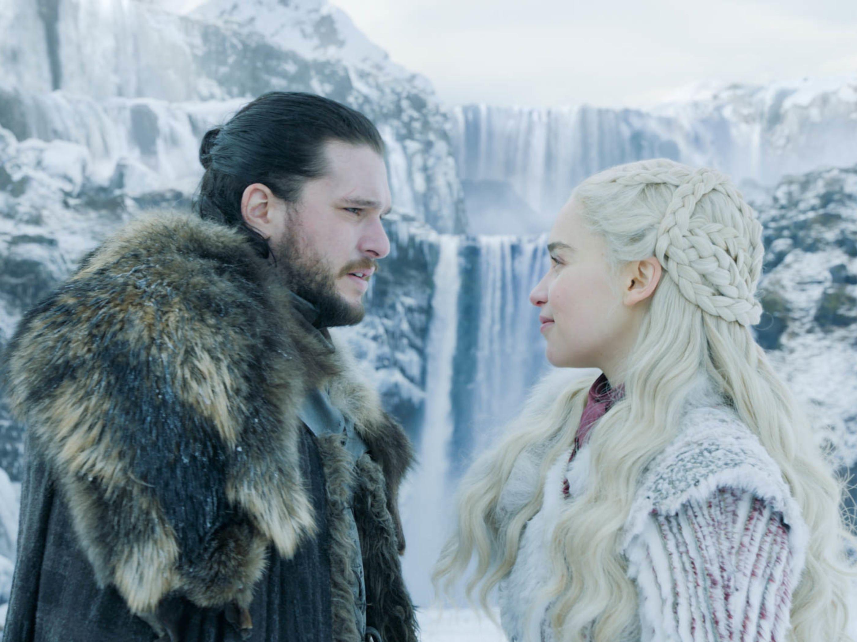 Jon Snow (Kit Harington) shows Daenerys Targaryen (Emilia Clarke) some of the North.