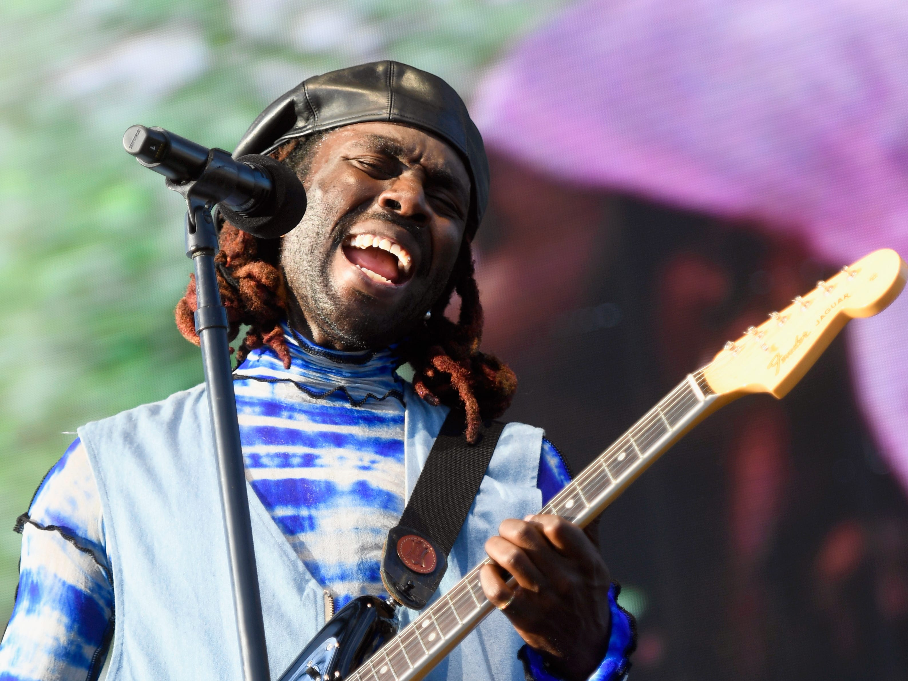 INDIO, CA - APRIL 14:  Dev Hynes of Blood Orange performs at the Outdoor Theatre during the 2019 Coachella Valley Music And Arts Festival on April 14, 2019 in Indio, California.  (Photo by Frazer Harrison/Getty Images for Coachella) ORG XMIT: 775319304 ORIG FILE ID: 1137221962