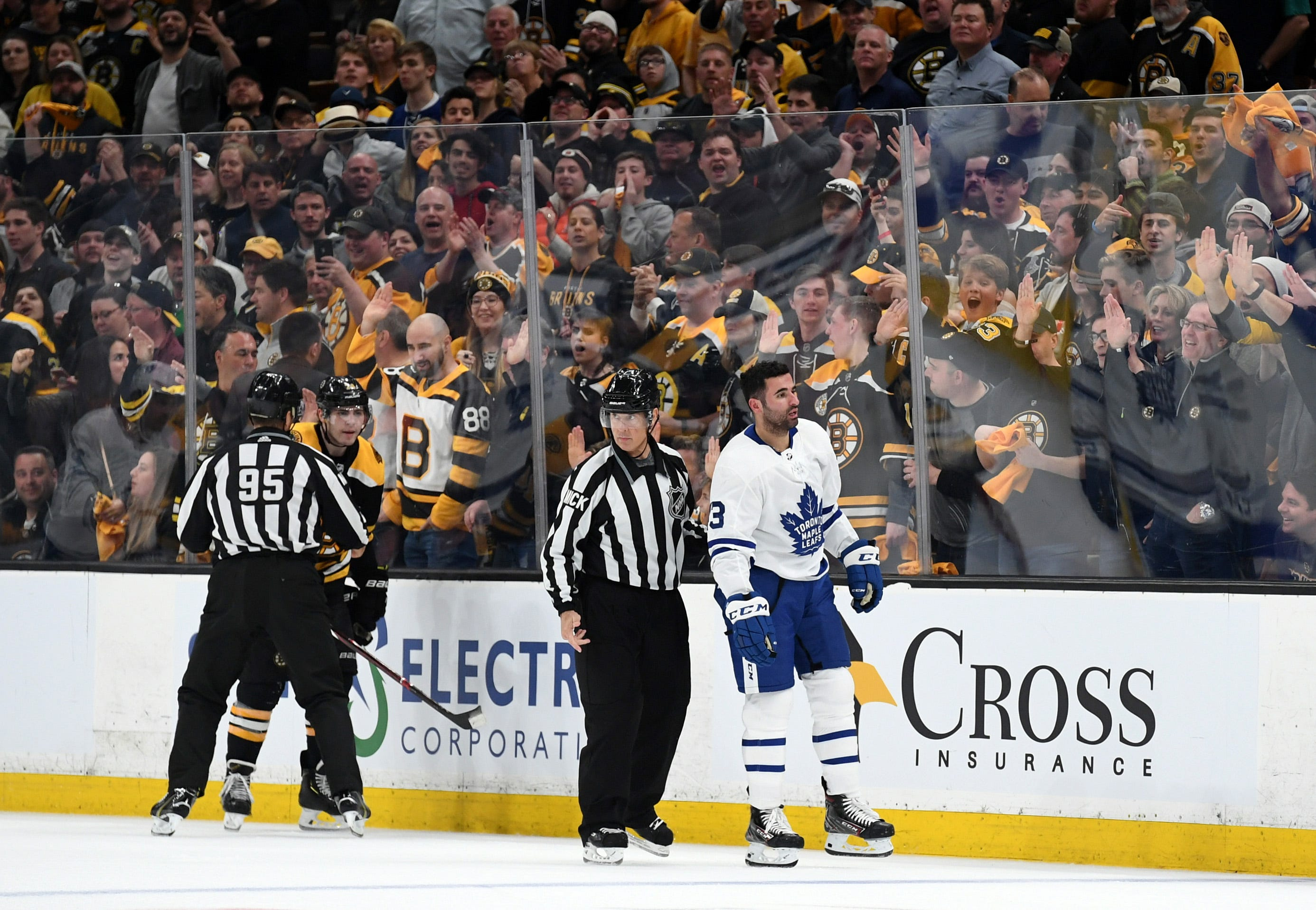 Maple Leafs' Nazem Kadri suspended for remainder of first round vs. Bruins for cross-check