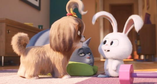 "Audiences were tepid on ""The Secret Life of Pets 2,"" which brought together Daisy (voiced by Tiffany Haddish, from left), Chloe (Lake Bell) and Snowball (Kevin Hart) for a dangerous mission."