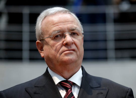 In this Jan. 19, 2017 file photo Martin Winterkorn, former CEO of the German car manufacturer 'Volkswagen', arrives for a questioning at an investigation committee of the German federal parliament in Berlin, Germany.