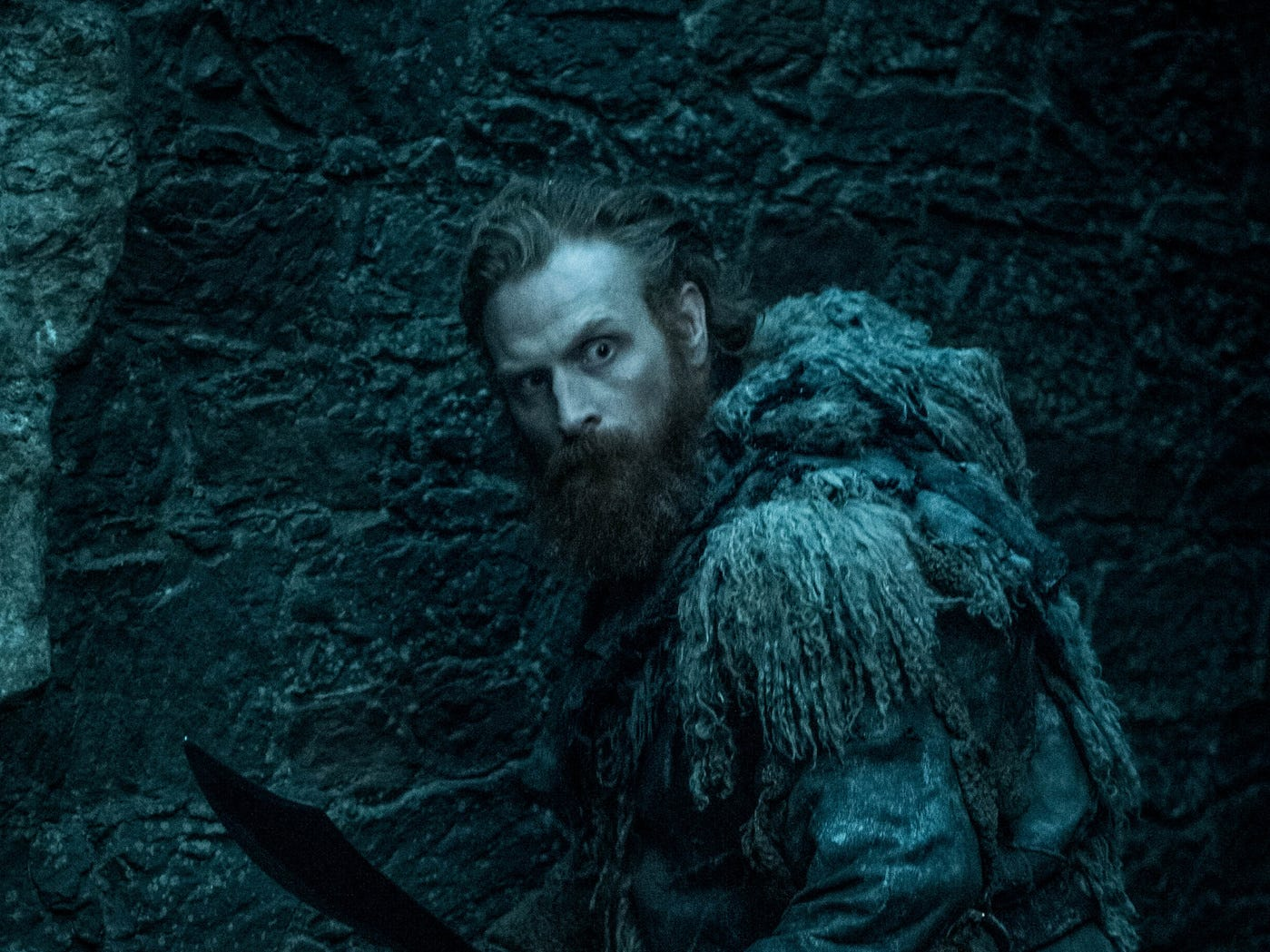 Tormund (Kristofer Hivju) is worried.