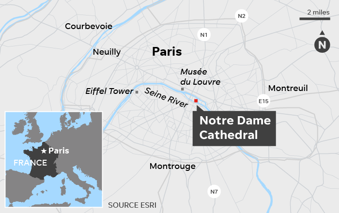 'Everything is burning': Famed Notre Dame cathedral ablaze in Paris; towers may be saved 3
