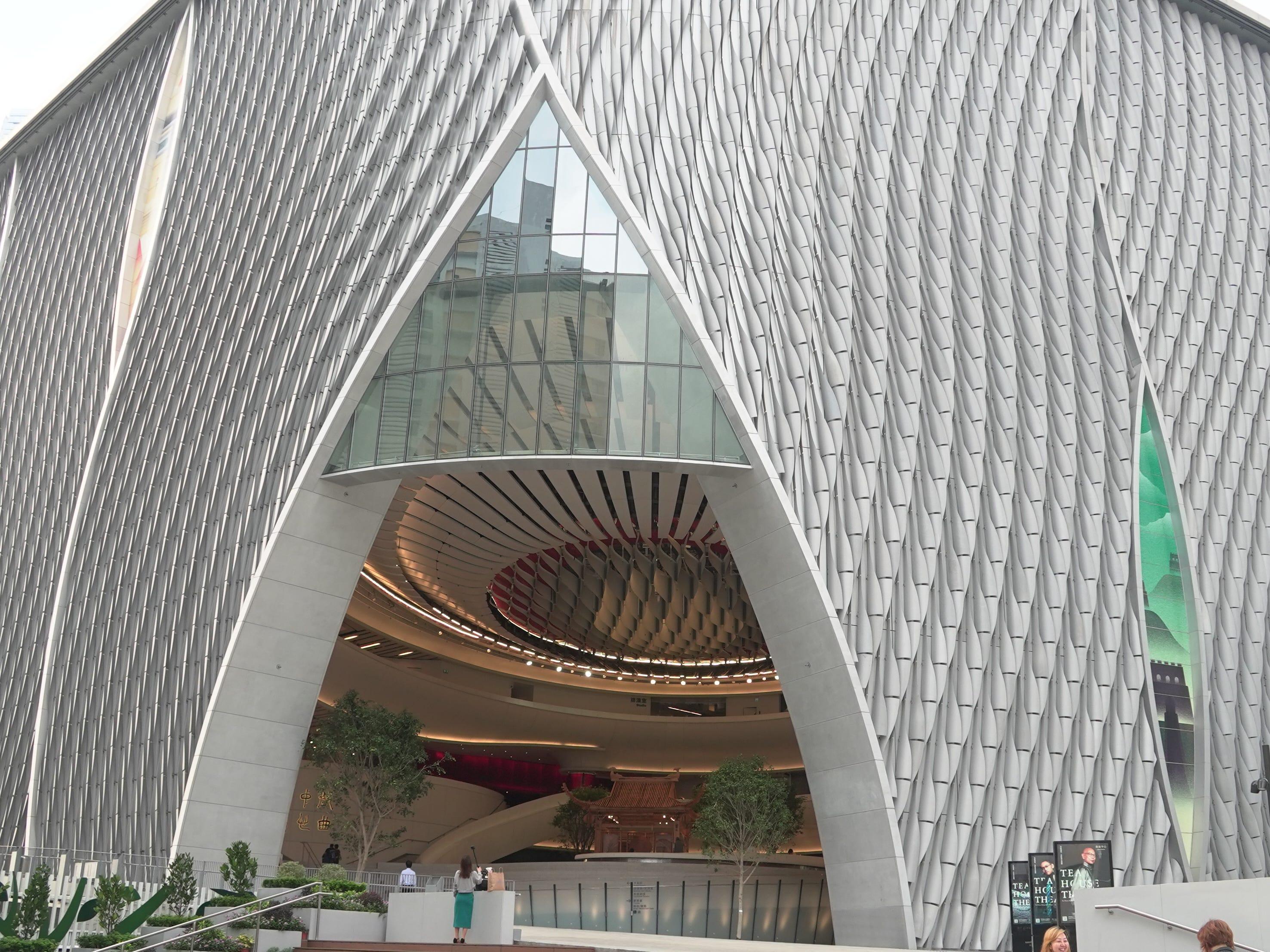 The uber-modern Xiqu Centre, Hong Kong's opera and arts house.