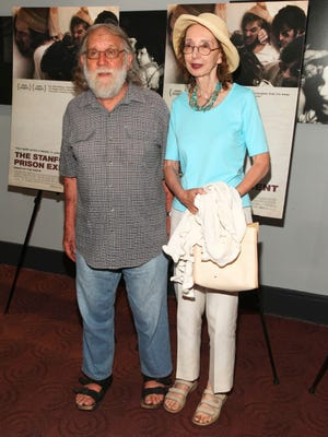 """Charles Gross and Joyce Carol Oates attend """"The Stanford Prison Experiment"""" premiere in New York on July 15, 2015."""