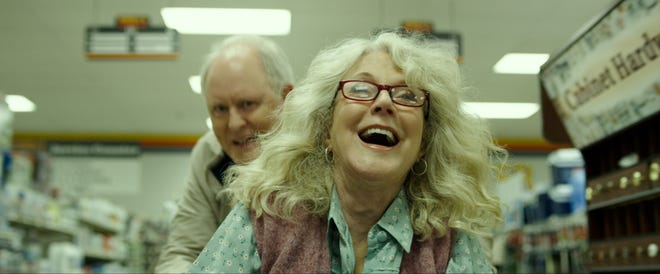 "John Lithgow and Blythe Danner star as two eccentric small-town hoarders who fall in love in the romantic drama ""The Tomorrow Man."" (May 22)"