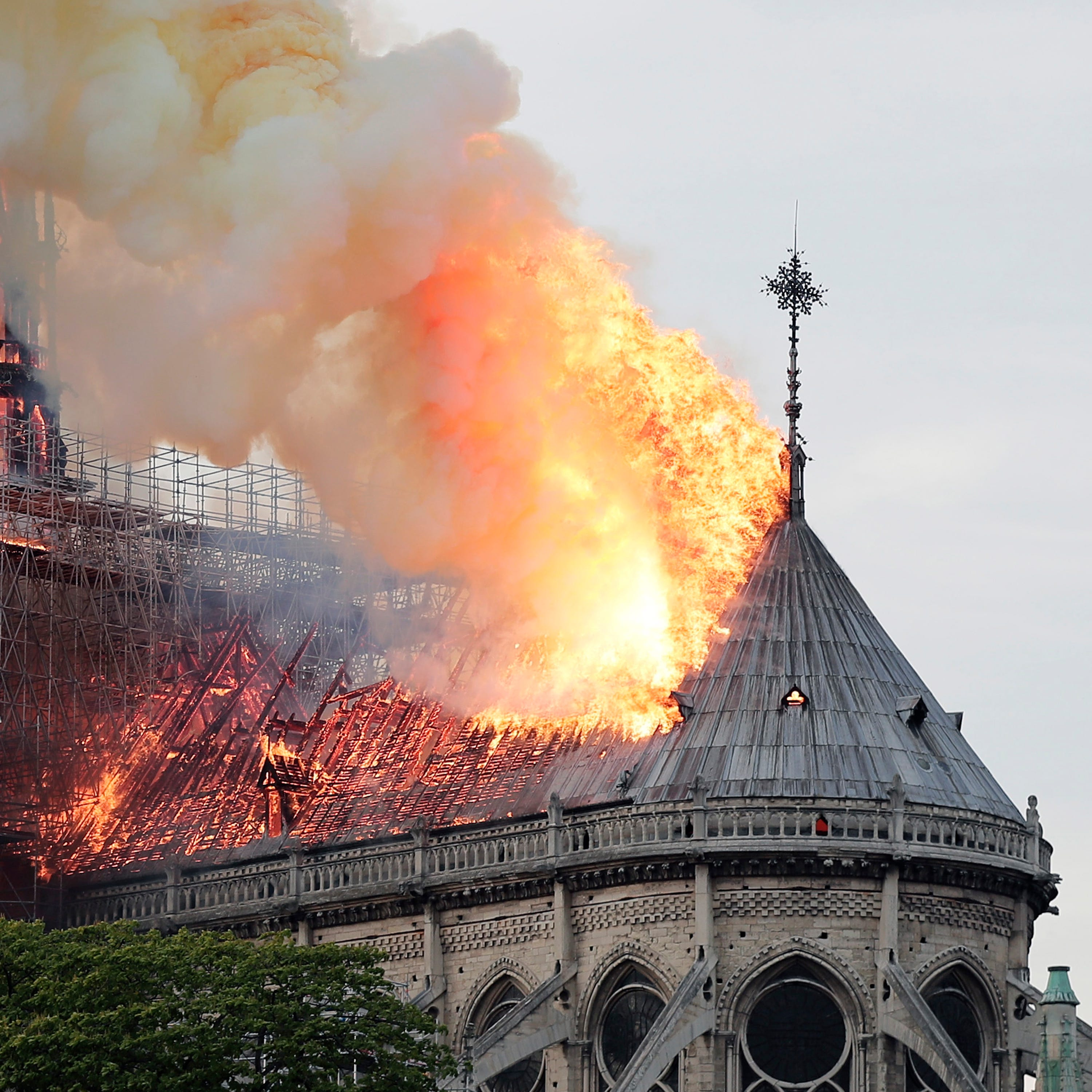 Hours after hearing worshippers, Hoosier native saw Notre Dame Cathedral in flames