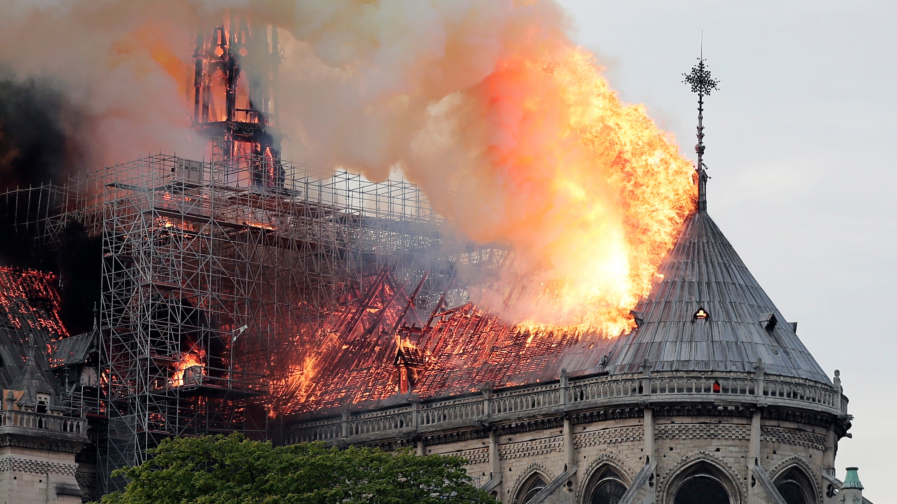 Image result for Notre dame on fire