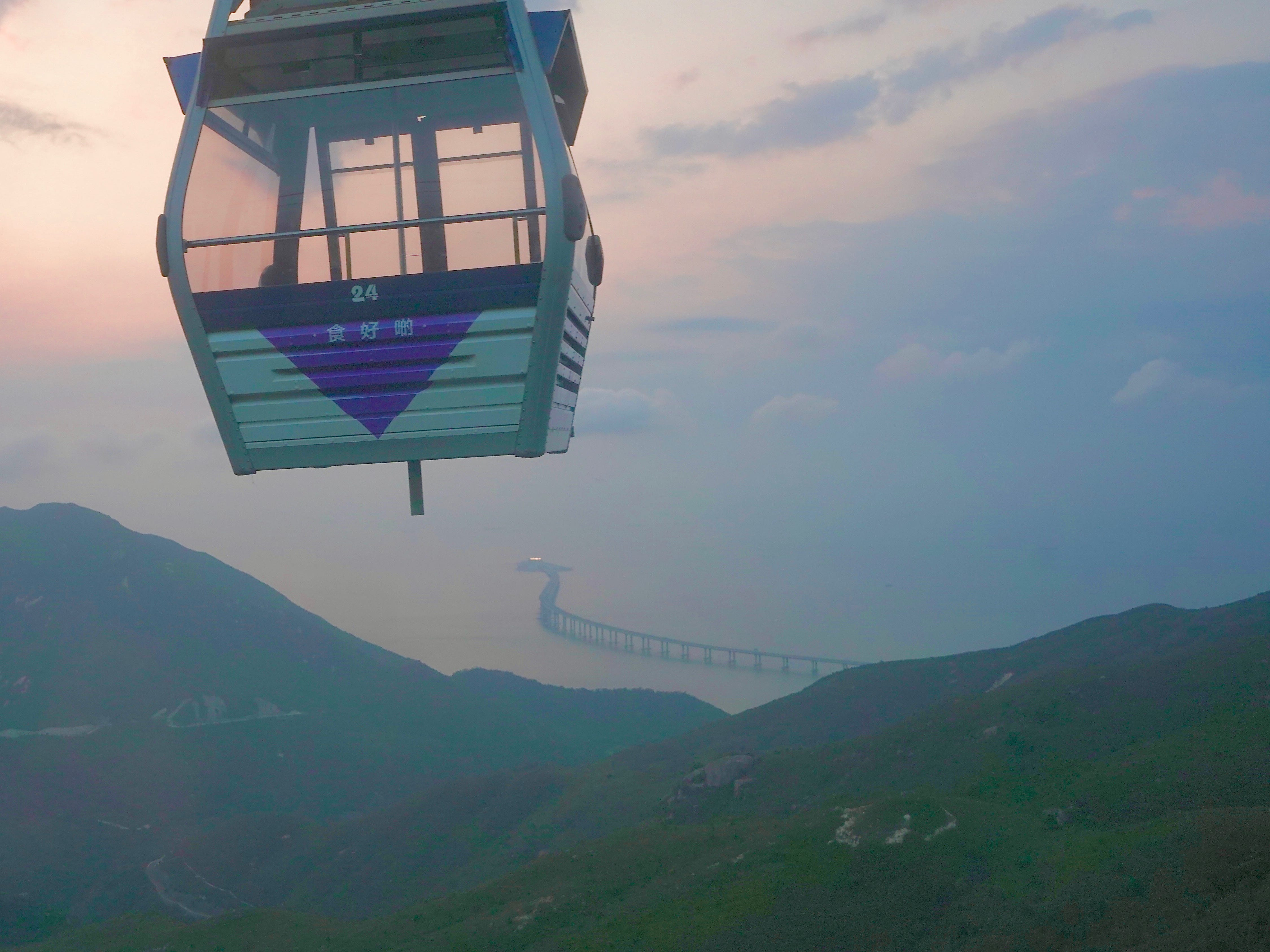 A cable car offers incredible views of Hong Kong's islands.