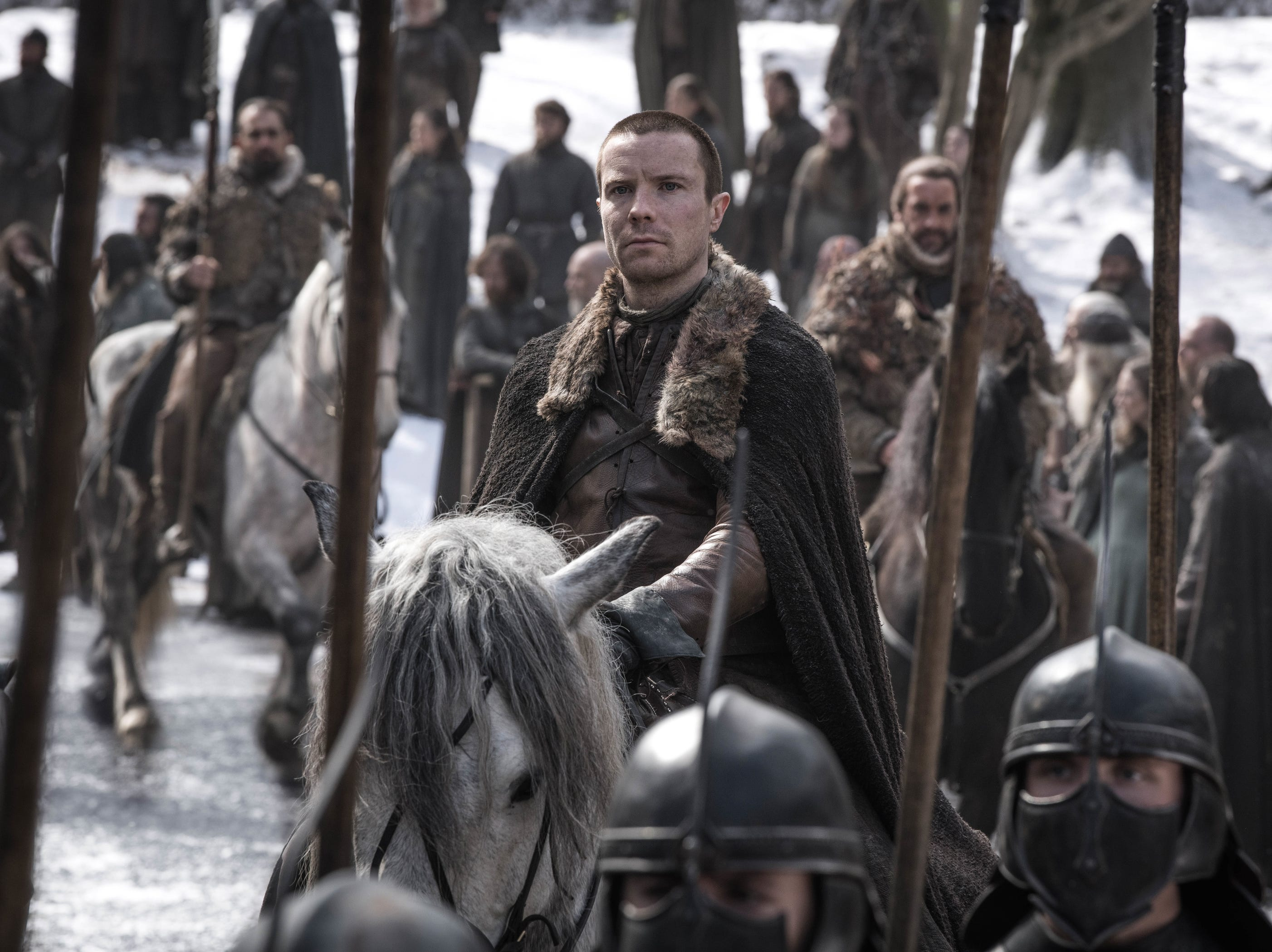 Gendry (Joe Dempsie) arrives at Winterfell.