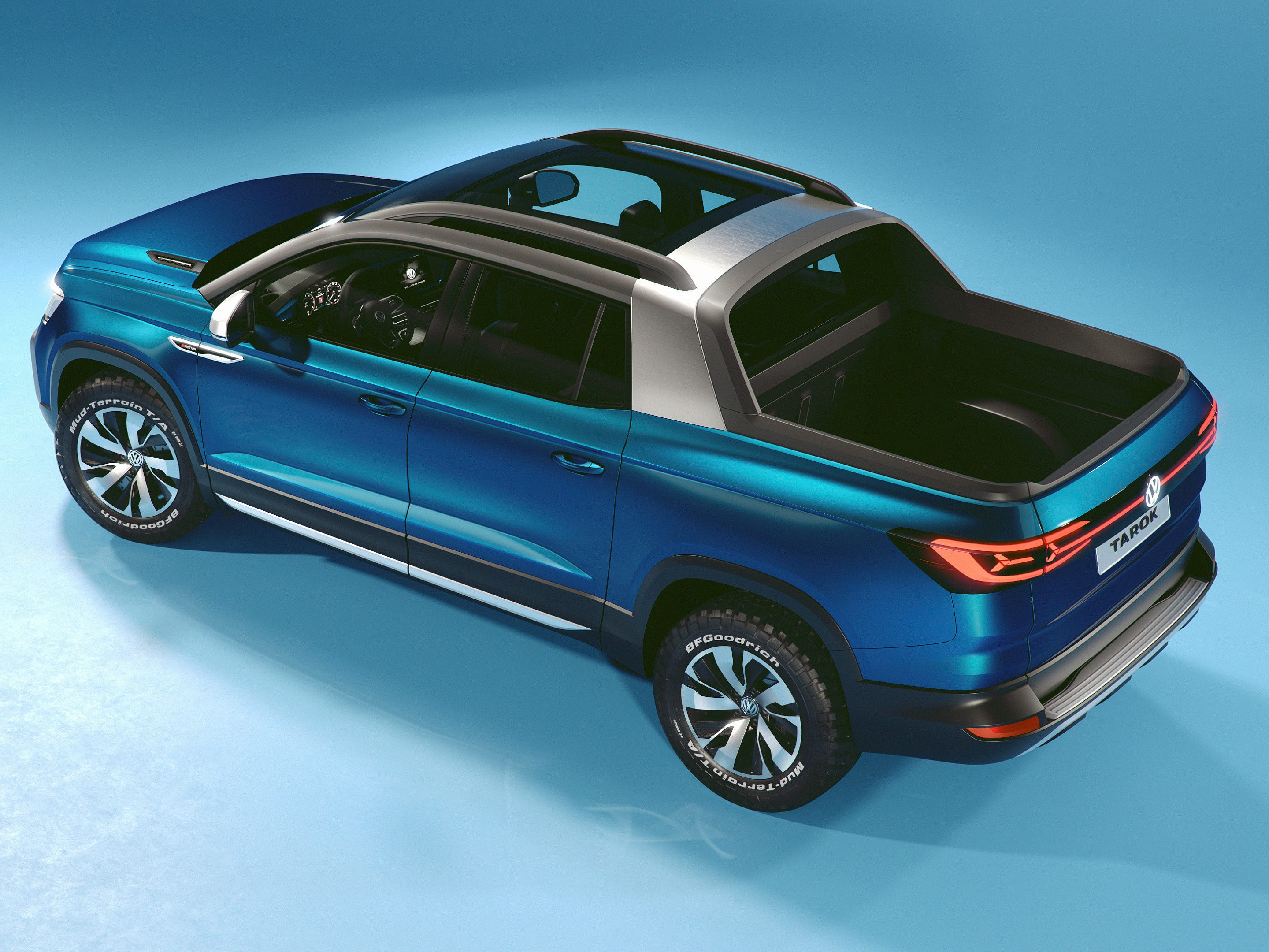 The Volkswagen Tarok compact pickup concept, featured at the 2019 New York Auto Show.