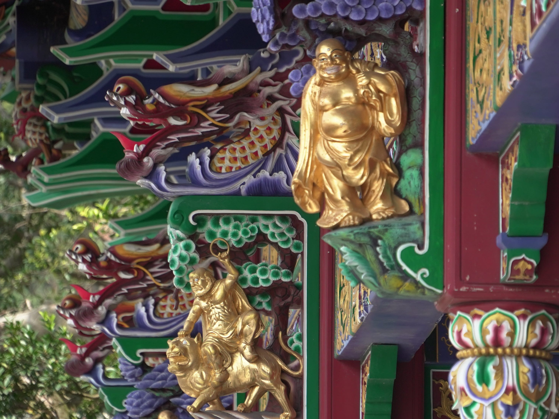 A golden Buddha on the Po Lin Monastery.