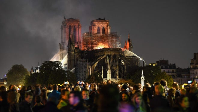 cause of fire in notre dame cathedral