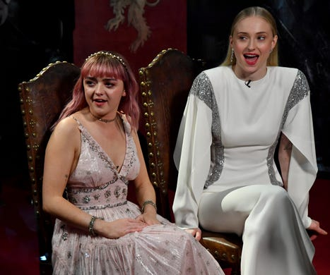 """""""Game of Thrones star Maisie Williams' pink dress from the show's Belfast premiere on April 12 wasn't particularly risqué. The plunging neckline just showed a little more skin that we're used to seeing from Arya Stark."""