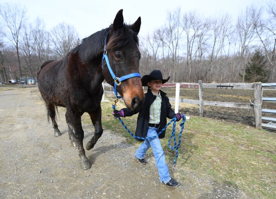 Lacey Trezza, 8, with Toby at JL Performance Horses in Poughquag, New York.