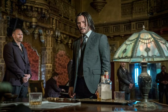 "John Wick (Keanu Reeves) is excommunicated from the global community of assassins and has a bounty on his head in the action film ""John Wick: Chapter 3 – Parabellum."""