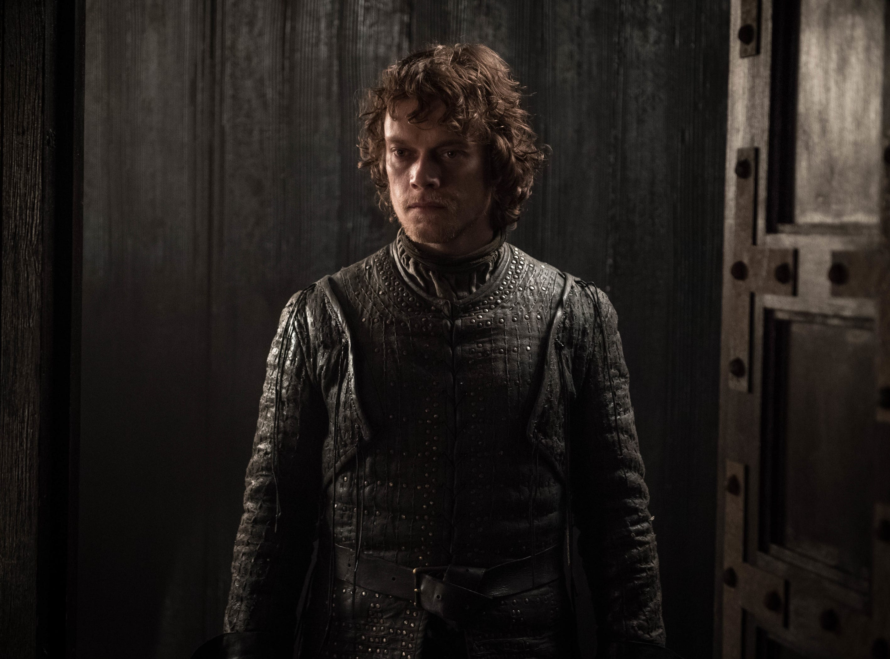 Theon Greyjoy (Alfie Allen) isn't happy.