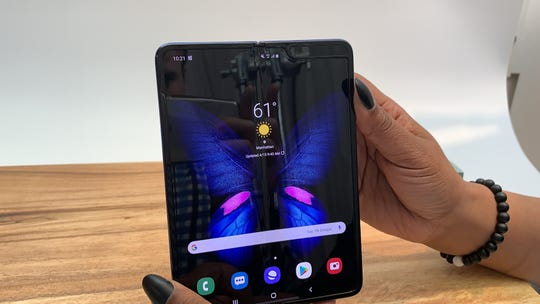 The Galaxy Fold's divider isn't always hidden.