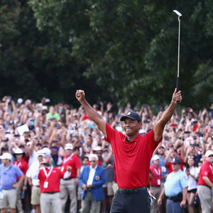 A Wisconsin man won $1.2 million on Tiger Woods' Masters win and says it was his first sports bet