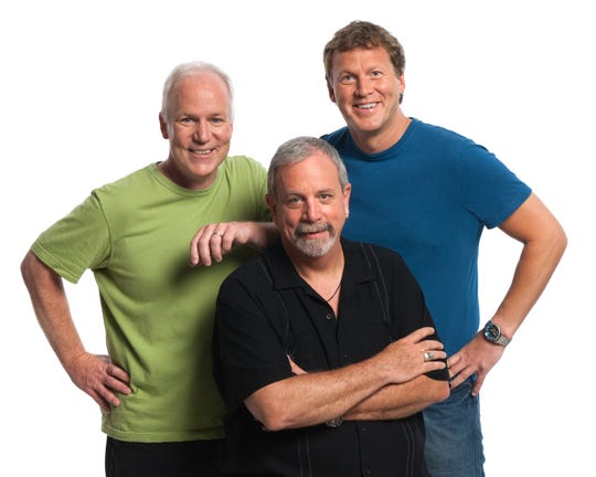 From left: Bill Corbett, Kevin Murphy and Michael J. Nelson of RiffTrax.